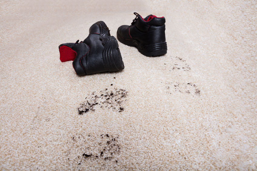 How Your Dirty Shoes Can Stain Carpets